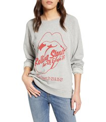 women's treasure & bond band graphic sweatshirt, size x-small - grey