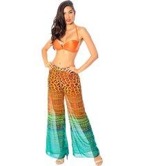 calça de praia mos beachwear cleo estampado