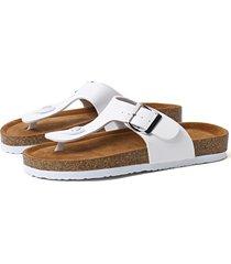 hebilla de poste casual blanca diseño zapatillas