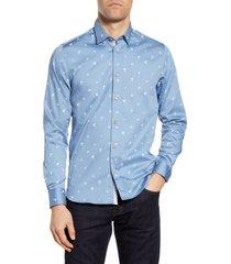 men's ted baker london slim fit tropical print button-up shirt