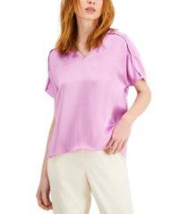alfani seamed-sleeve top, created for macy's
