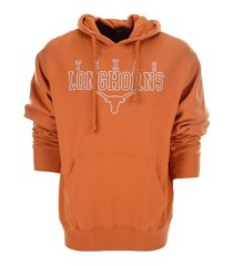 authentic ncaa apparel texas longhorns men's stacked cotton hooded sweatshirt