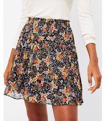 loft petite floral tiered ruffle pull on skirt