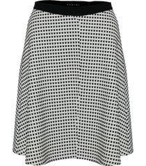 falda campana blanco negro varini