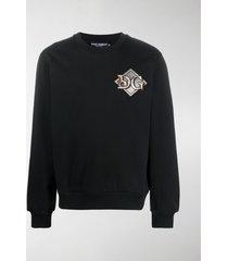 dolce & gabbana logo patch sweatshirt