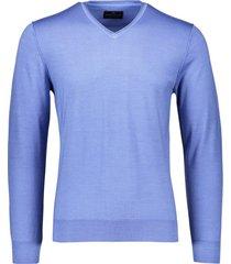 pullover portofino v-hals middenblauw
