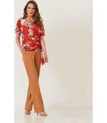 blusa feminina estampada em tecido realist 0320110 - feminino