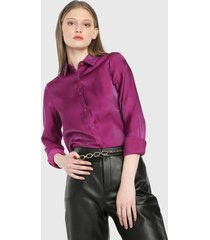 camisa violeta paris district
