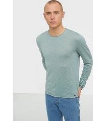 only & sons onsdaren 12 slub crew neck knit tröjor turkos