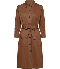 selby cole dress jurk knielengte bruin mos mosh