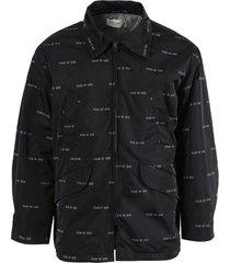 black nylon field jacket
