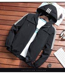 abrigos slim fit cremallera de moda para hombres,primavera otoño-negro