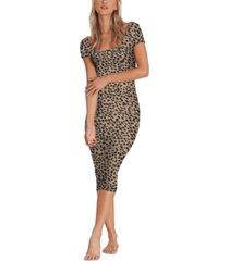 billabong women's mid day animal-print midi dress