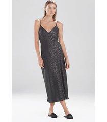 natori decadence nightgown, women's, grey, size l natori
