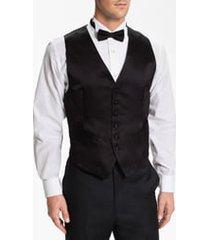 men's david donahue silk vest, size xx-large - black