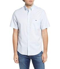 men's vineyard vines tucker classic fit short sleeve button-down shirt