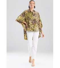 natori ombre animale, silky soft batwing blouse, women's, green, size l/xl natori