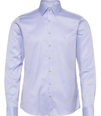 twill easy iron slim shirt overhemd business blauw calvin klein