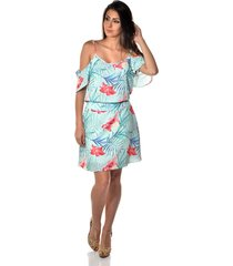 vestido banca fashion clair estampada