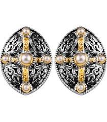 women's konstantino pearl classics shield earrings
