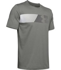 camiseta under armour fast left chest 2.0-gris-gris-plateado
