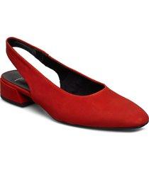 joyce shoes heels pumps sling backs röd vagabond