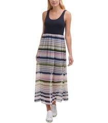 dkny colorblocked maxi dress