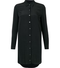 equipment essentail silk shirt - black