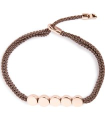 women's monica vinader engravable linear bead friendship bracelet