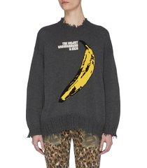 'velvet underground' banana graphic print sweater
