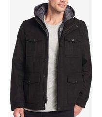 dockers men's wool-blend four-pocket coat
