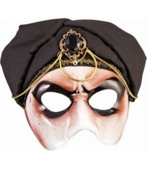 buyseasons men's fortune teller half mask with scarf