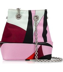 emilio pucci alex print bonita mini bucket bag