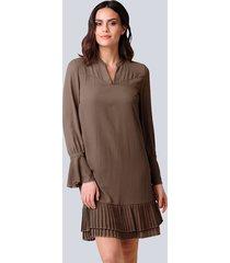 jurk alba moda bruin