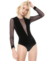 body calvin klein underwear veludo lile preto