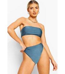 mix & match strapless bikini top, petrol