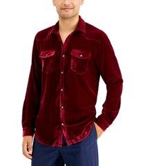 inc men's western velvet shirt, created for macy's