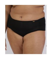 kit de 2 calcinhas love secret plus size em modal caleçon com lateral dupla bege