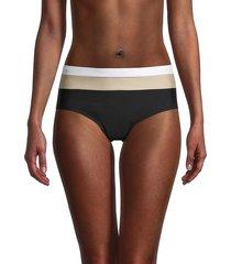 dkny women's high-rise colorblock bikini panty - navy - size xs