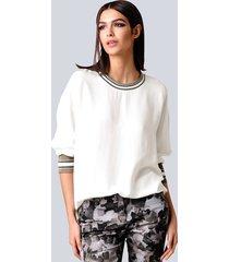 blouse alba moda offwhite::kaki