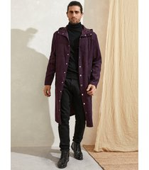 abrigo casual de pana de otoño para hombre