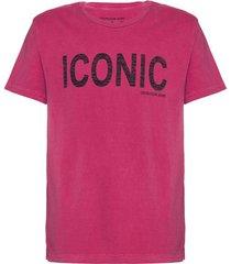 camiseta mc regular frase meia pig gc - vermelho escuro - 2
