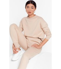 womens take a breath sweater and joggers set - sand