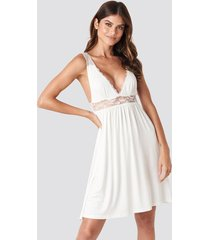 trendyol lazy night mini dress - white