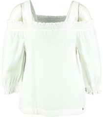 garcia soepel off white shirt 3/4 mouw