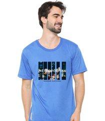 camiseta sandro clothing movement azul - azul - masculino - dafiti