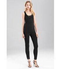 undercover tank pajamas, women's, black, size m, josie natori