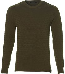 scotch & soda pullover - slim fit - groen