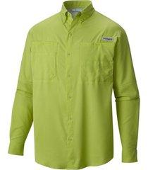 camisa hombre tamiami ii m/l verde  columbia