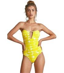 body empress brasil kelly estampa leblon amarelo